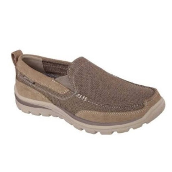 complimentary shipping famous designer brand preview of Skechers MENS Milford 64365EWWLTBR Eww Light Brown